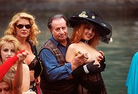 Tinto Brass and the female cast of the film ´Trasgredire´, Mostra del Cinema, Venice