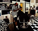 The Barbershop 1995 Dale Kennington (20th C./American). Oil on Canvas Butler Institute of American Art, Youngstown, Ohio