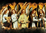 Choir of Angels Hans Memling (c. 1433-1494/Netherlandish). Oil on Canvas