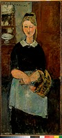 The Pretty Housewife  1915 Amedeo Modigliani (1884-1920/Italian)  Oil on Canvas  Barnes Foundation, Merion, Pennsylvania
