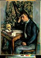 Boy with Skull (Jeune Homme a la Tete de Morte) 1896-1898 Paul Cezanne (1839-1906 French) Oil on Canvas Barnes Foundation, Merion, Pennsylvania, USA