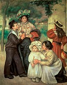 The Artist´s Family (Portraits). (La Famille d´ Artiste). 1896, Pierre- Auguste Renoir (1841-1919 /French). Oil on Canvas Barnes Foundation, Merion, P...