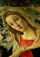 The Virgin and Child (Virgin Detail). by Botticel