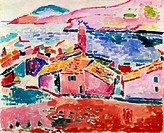 View of Collioure 1905 Henri Matisse (1869-1954 /French). Oil on canvas Hermitage Museum, St. Petersburg