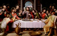The Last Supper Juan de Juanes (c. 1523-1579/Spanish)