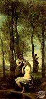 La Toilette 19th C. Jean Baptiste Camille Corot (1796-1875/French). Private Collection