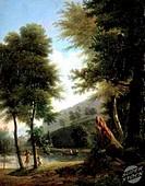 Idyllic Landscape (Paysage Idyllique). c. 1810 Francois Edouard Bertin (1797-1871/French). Musee des Beaux- Arts, Rouen
