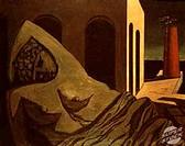 The Silent Statue 1913 Giorgio de Chirico (1888-1978/Italian). Dusseldorf Museum, Germany