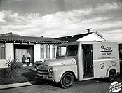 Milk Truck California USa 1950