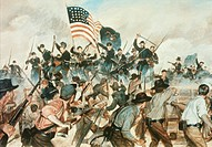Battle of Vicksburg May 19, 1863 H. Charles Mc Barron (20th C. American)