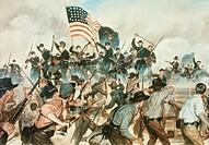 Battle of Vicksburg May 19, 1863 H. Charles Mc Barron (20th C. American)
