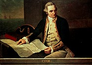 Captain James Cook Nathaniel Dance- Holland (1735-1811 British)