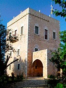 Kapetanakos' tower at Areopolis. Mani Peninsula. Laconia, Peloponnese. Greece