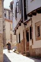 A typical street in Candelario. Salamanca province. Castilla y Leon. Spain