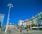 Ban Jelacic Place. Zagreb. Croacia