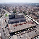 'Sants' Train Station from above. Barcelona. Spain