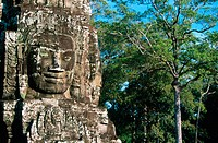Sculpture in Bayon Temple. Angkor. Siem Reap. Cambodia