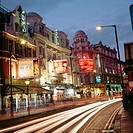 Theatres in Shaftesbury Avenue. London. UK