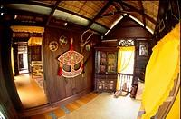 Interior of a Malay house, Malaysia.