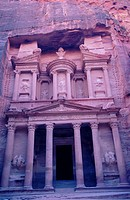 The Khazneh in Petra. Jordan