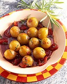 Cipolle agrodolci (onions with tomato & sage in balsamico)