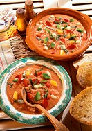 Mexican pepper gazpacho (cold vegetable soup)