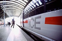 ICE high-speed train at central railway station. Frankfurt am Main. Germany