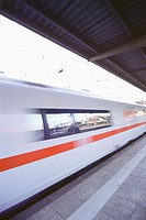 ICE, high-speed train at central railway station. Frankfurt am Main. Germany