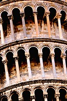 Close-up of Leaning Tower of Pisa. Pisa,Tuscany, Italy