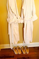 matching bathrobes and slippers