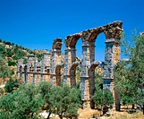 Ruins of roman aqueduct. Moria. Lesvos. Greece