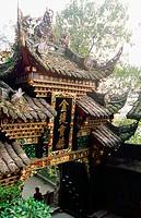 Erwang Miao temple. Dujiangyan. Sichuan province. China