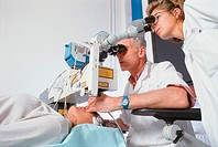 ´LASER SURGERY<BR>Quinze-Vingt Hospital in Paris, France. Eyes microsurgery. Short-sightedness treatment.´