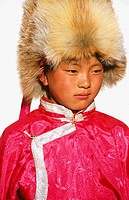 Tibetan boy from Kegu village. Yunnan province. China