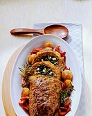 Greek style lamb meatloaf (with spinach stuffing)