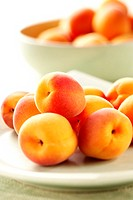 Apricots on a plate