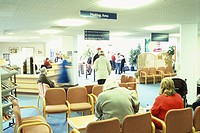´Hospital waiting room. Photographed in England.