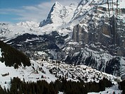 10647687, alpine, Alps, mountains, Bernese Oberland, village, Eiger, mountain, rock, cliff, cliff wall, cable, canton Bern, sc