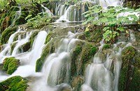 Cascades in Plitvice Lakes National Park. Croatia