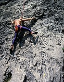 Climber, Arco near Lake Garda, Trento, Italy (thumbnail)