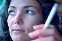 WOMAN SMOKING<BR>Model.