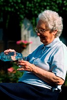 THIRSTY ELDERLY PERSON<BR>Model.