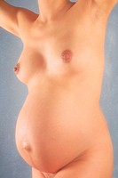 NUDE PREGNANT WOMAN<BR>Model.