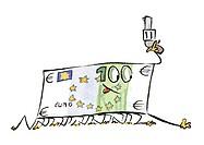 Euro bill holding revolver