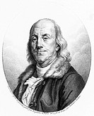Engraving by Tardieu after Duplesis. Benjamin Franklin (1706-1790) trained as a printer, first in his family´s firm in Boston, and later in England. H...