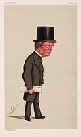 Chromolithograph by Vincent Brooks Day & Son of a caricature by Carlo Pellegrini, better known as Ape, from 'Vanity Fair' magazine. Playfair (1818-189...