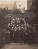 Photograph of Sir William Henry Perkin (1838-1907) with other members of the British Assocation including Pope, Green and William Ramsay (1852-1916), ...