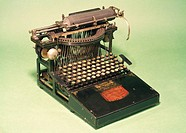 This machine was designed in the United States by George Washington Yost after he broke away from Remington, makers of the first successful typewriter...