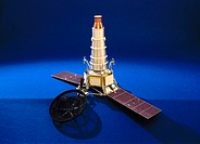 Model made by Rod Smith in the workshops of the Science Museum, London in 1975. Ranger was the first of three American programmes of unmanned probes s...
