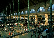 Paris, interior of train station
